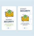 cyber security design with elegent style vector image