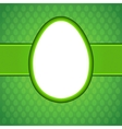 Easter egg card EPS 8 vector image vector image