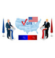 election day usa debate president voting 2020 vector image vector image