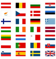European Union Countries Flags vector image