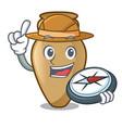explorer amphora mascot cartoon style vector image