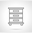 file cabinet flat line icon vector image vector image