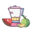 fruit smoothie cartoon vector image vector image