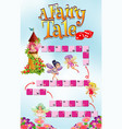 game template with fairy tale theme background vector image vector image