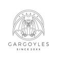 gargoyles gargoyle logo outline vector image vector image