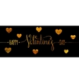 Gold textured Happy Valentines day inscription vector image vector image