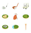 golf things icons set cartoon style vector image vector image