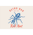 insect logo vintage ant bugs beetles label vector image vector image