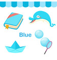 isolated color blue group vector image vector image