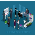 Isometric Business People Design vector image