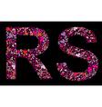 letter r s valentine alphabet vector image vector image