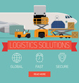 Logistics Solutions vector image vector image