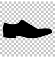 Men Shoes sign Flat style black icon on vector image vector image
