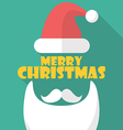 Merry Christmas with Santa symbol vector image vector image