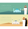 Muslim banner vector image vector image