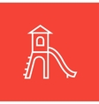 Playground with slide line icon vector image vector image