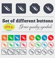 plug mini jack icon sign Big set of colorful vector image vector image