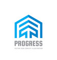 progress - sign template concept vector image
