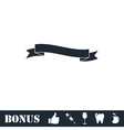 Ribbon icon flat vector image vector image