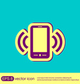 ringing phone the call vector image vector image