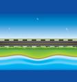 road near the sea vector image vector image