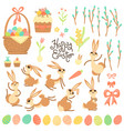 set design elements and characters for happy vector image vector image