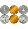 Set Israeli silver money shekel coins vector image vector image