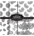 Set of seamless backgrounds vector image vector image