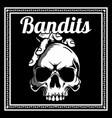 skull bandits hand drawingshirt designs biker vector image vector image