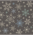 snowflakes seamless background vector image
