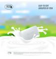 soap with milk splash natural handmade vector image vector image