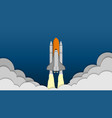 space shuttle taking off on the mission spaceship vector image vector image