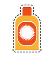 sunblock or sunscreen icon image vector image vector image