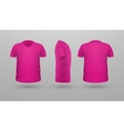 T-shirt Teplate Set Front Side Back View vector image vector image