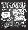 Thank You card with Chalkboard Background vector image vector image