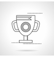 The best award cup flat line icon vector image vector image