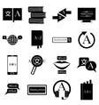 Translator profession icons set simple style vector image vector image
