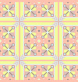 unusual geometrical seamless pattern vector image
