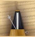 vintage swinging metronome vector image vector image