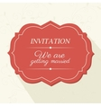 Wedding cute card vector image vector image