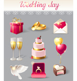 wedding icons new vector image vector image