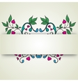 abstract flowers on a light background for text vector image