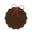 label icon seal stamp and bowtie design vector image