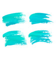 abstract watercolor blue brush strokes isolated vector image vector image