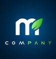 Alphabet letter m leaf logo icon design vector image vector image