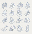 automated production line isometric thin vector image