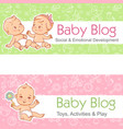 banner for blog babies talk little child play vector image vector image