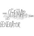 benefits of a seo sitemap generator text word vector image vector image