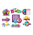 bingo lotto or national lottery logo templates set vector image vector image
