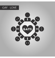 black and white style icon gay in love community vector image vector image